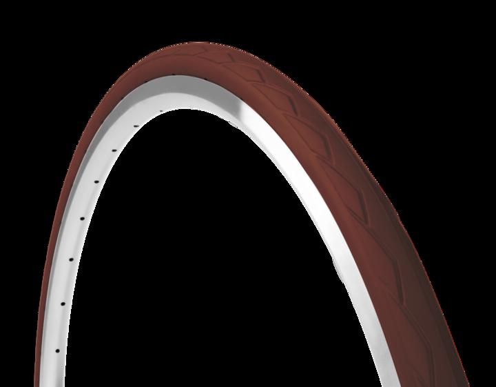 Farvede cykeldæk i brun