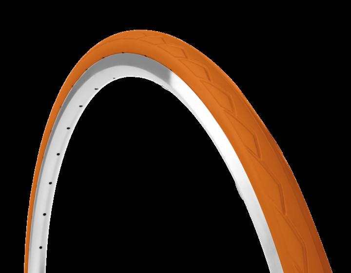 Farvede dæk i Orange