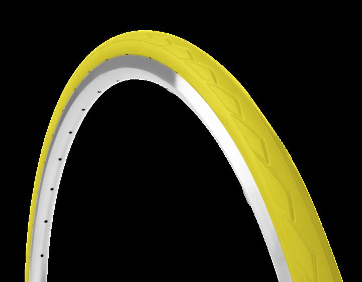 Farvede cykeldæk i gul