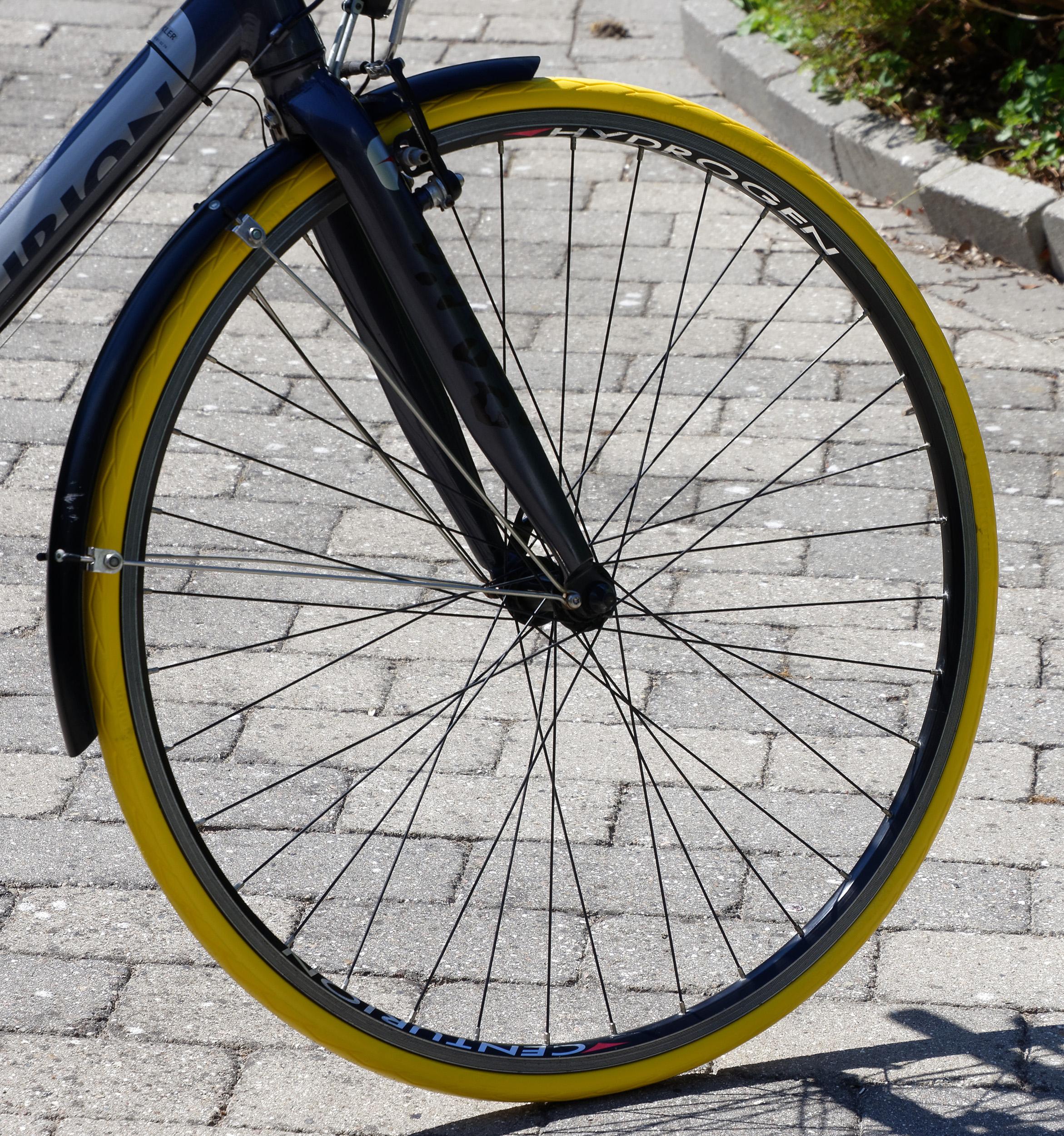 Gule cykeldæk