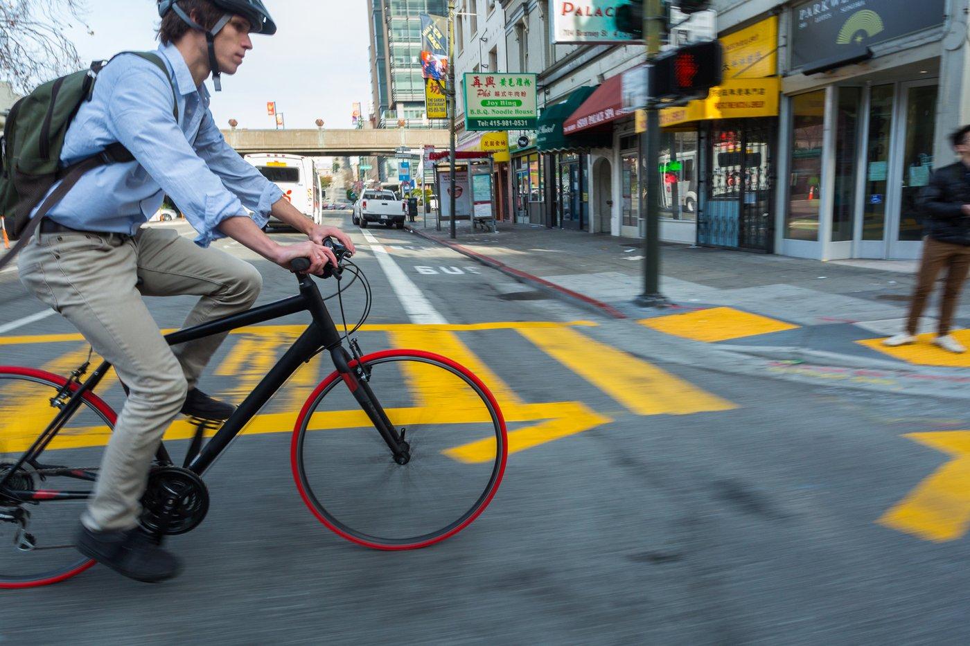 røde cykeldæk til citybike