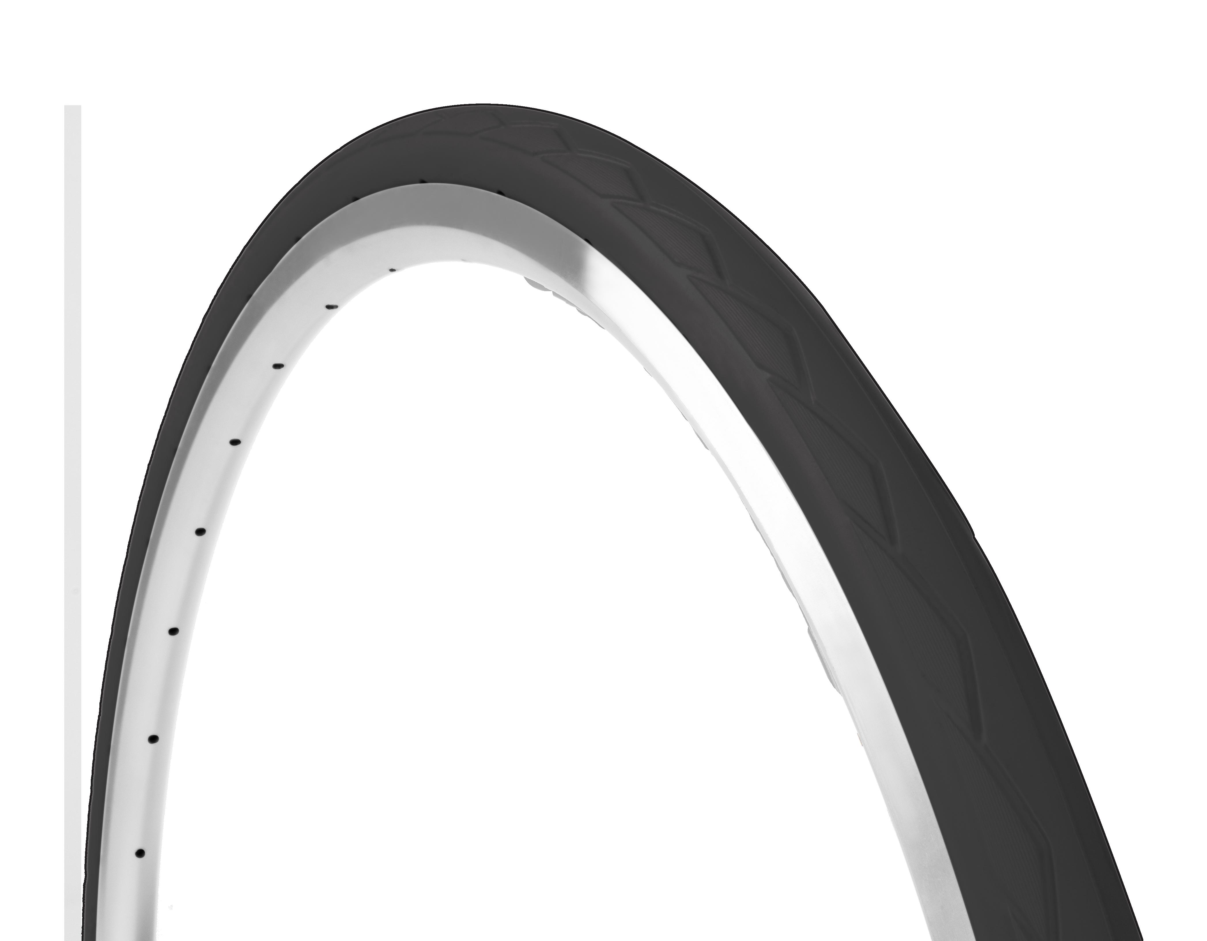 farvede cykeldæk i sort